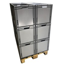 12 x Eurobox Universal 60x40x42 cm open handle Eurocontainer KLT box Superdeal