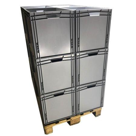 SalesBridges Bulkdeal Eurokrat  60x40x42 cm open handvat Eurobox  container Superdeal