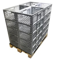20 x Eurobox Perforated 60x40x22 cm Superdeal