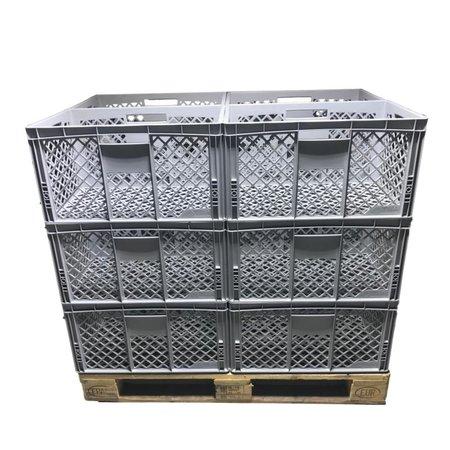 SalesBridges Bac de rangement en plastique Perforé 60x40x32 cm  Eurobox