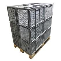 12 x Eurobox Perforated 60x40x42 cm Superdeal
