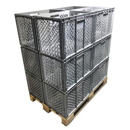 SalesBridges Bac de rangement Perforé 60x40x42 cm  conteneur en plastique