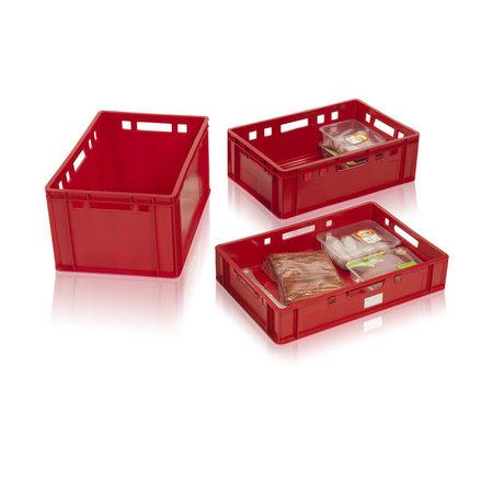 SalesBridges Bac pour viande 60x40x20 plastic Euro E2  avec poignées, ouvert
