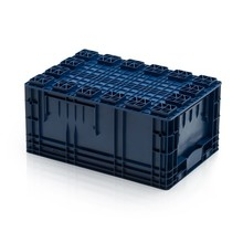 R-KLT Eurocrate 60x40x28 cm Euro container KTL box  with Reinforced Grid Bottom
