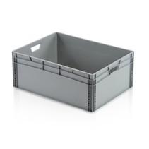 6 x Eurobox Universal 80x60x32 cm open handle Eurocontainer KLT box Superdeal