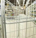 SalesBridges Nestbaar Rolcontainer 4 heks met Eurokratten Euroboxen