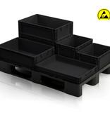 SalesBridges ESD Crates 60x40 cm various heights ESD Euro Container Eurobox black