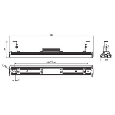 SalesBridges LED 240W Professionele Schijnwerper 33600lm IP65