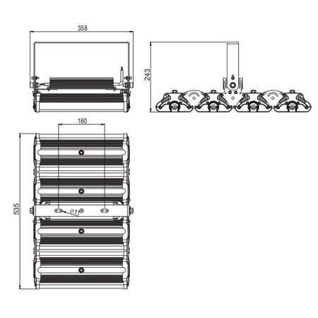 SalesBridges LED 320W Professionele Schijnwerper 44800lm IP65