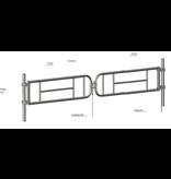 SalesBridges Double Enhanced telescopic Gate
