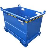 SalesBridges Benne à fond ouvrant superposable 1000L pour chariot élévateur et grue