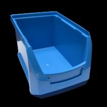 Benne en plastic pour magazin PP A  23x15x12.cm Bleu