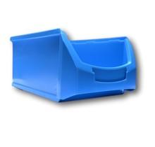 Bac à bec en plastique pour magasin PP A  51x31x20cm Bleu