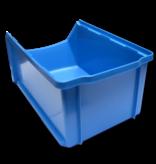 SalesBridges Magazijnbak Kunststof D PP 51x31x20cm  Blauw Plastic Grijpbakken