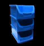 SalesBridges Bac à bec en plastique pour magasin PP A  51x31x20cm Bleu