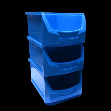 SalesBridges Benne en plastic pour magazin PP A  51x31x20cm Bleu