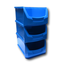 Benne en plastic pour magazin PP A  35x21x15cm Bleu