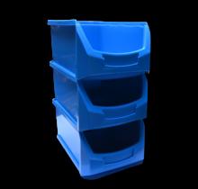 Magazijnbak Kunststof C PP 35x21.3x15cm Blauw Plastic Gripbakken