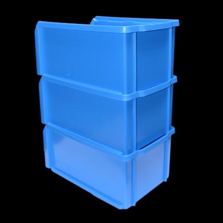 SalesBridges Magazijnbak Kunststof C PP 35x21.3x15cm Blauw Plastic Gripbakken