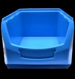 SalesBridges Benne en plastic pour magazin PP A  35x21x15cm Bleu