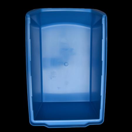 SalesBridges Bac à bec en plastique pour magasin PP C  35x21x15cm Bleu