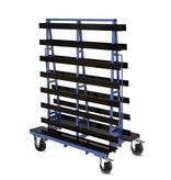 SalesBridges Plates Trolley double side loading  extra wide plateau of 40 cm