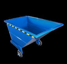 Chariot-benne basculant 1000L sur 3 roues usage manuel