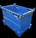 SalesBridges Onderlosser 1500L met Hijsogen Bodemklep Container Voor Heftruck en Kraan BB-model