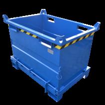 Onderlosser 2000L met Hijsogen Bodemklep Container Voor Heftruck en Kraan