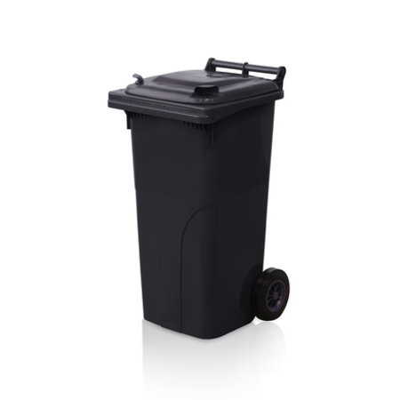 SalesBridges Plastic Rollcontainers Dustbins Minicontainer  on Wheels 120L Black