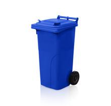 Afvalcontainer  Kliko 120L Blauw Minicontainer Vuilnisbakken Op Wielen