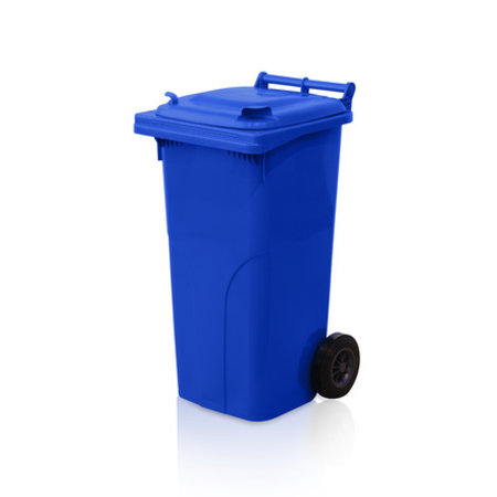 SalesBridges Minicontainer Plastic Rollcontainers Dustbins on Wheels 120L Blue