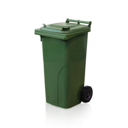 SalesBridges Mini-conteneur Bacs déchets en plastique 2 roues Bleu 120L