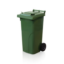 Plastic Rollcontainers Dustbins Minicontainer  on Wheels 120L Green