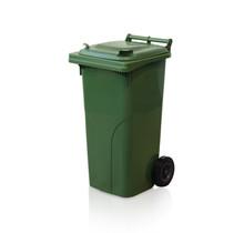 Mini-conteneur Bacs déchets en plastique 2 roues  120L Vert