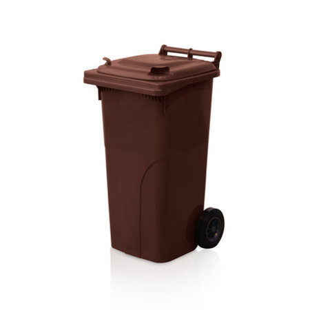 SalesBridges Plastic Rollcontainers Dustbins Minicontainer  on Wheels 120L Green