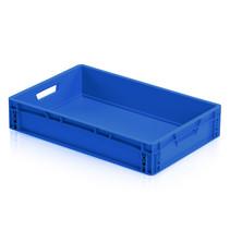 Eurobox Universal 60x40x12 cm blue closed handle Eurocontainer KLT box