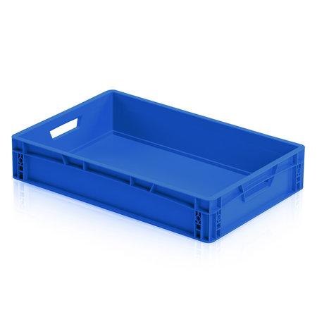 SalesBridges Eurokrat Universeel  60x40x12 cm blauw gesloten handvat Eurobox KLT box Euronorm Bakken