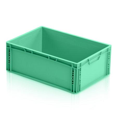 SalesBridges Eurokrat Universeel  60x40x12 cm groen gesloten handvat Eurobox KLT box Euronorm Bakken
