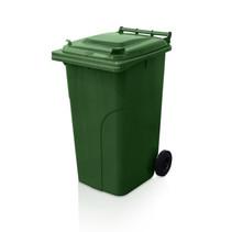 Mini-conteneur Bacs déchets en plastique 2 roues 240L Vert