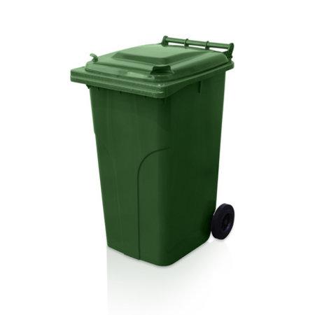 SalesBridges Mini-conteneur Bacs déchets en plastique 2 roues 240L poubelle Vert