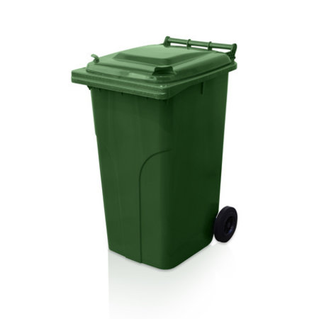 SalesBridges Plastic Rollcontainers Dustbins on Wheels 240L Groen