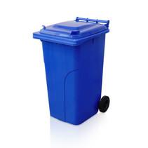 Mini-conteneur Bacs déchets en plastique 2 roues 240L Bleu