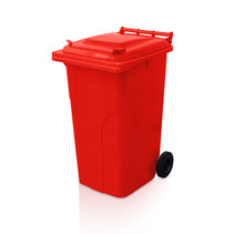 Plastic Rollcontainers Dustbins Minicontainer on Wheels 240L Red