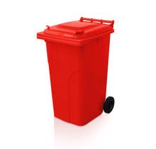 Afvalcontainer 240L Minicontainer Rood Vuilnisbakken