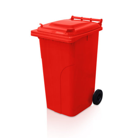 SalesBridges Plastic Rollcontainers Dustbins Minicontainer on Wheels 240L Red