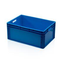 Plastic kratten 60x40x27 blauw Kunststof Stapelbak