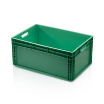 Eurobox Universal 60x40x27 cm green closed handle Eurocontainer KLT box