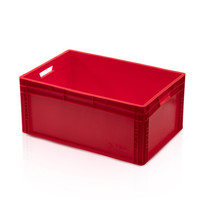 Eurobox Universal 60x40x27 cm red open handle Eurocontainer KLT box