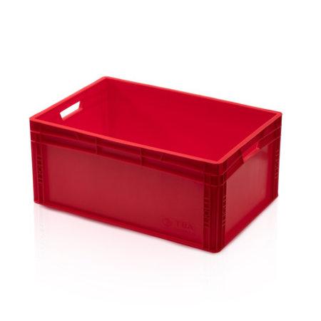 SalesBridges Bac de rangement  60x40x27 cm en plastique Rouge